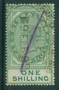 Gibraltar  - 1898 1/- QV Revenue - used (ES831a)