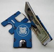 U.S. Coast Guard, Aluminum Wallet/Credit Card Holder, RFID Protection, Blue