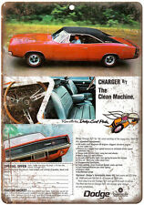 """1968 Dodge Charger 10"""" x 7"""" Vintage Look Reproduction"""