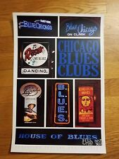 CHICAGO BLUES MUSIC POSTER, AUTO BY THE PHOTOGRAPHER, LIMITED EDITION #3 OF 75