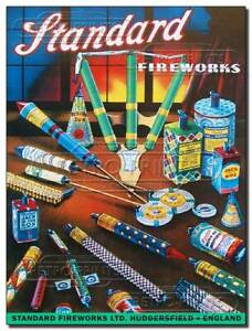 Standard Fireworks - Vintage/Retro Reproduction Metal Wall Sign Advert Poster