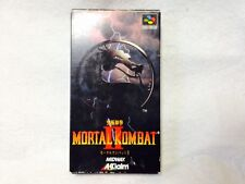 Complete! Mortal Combat 2 Super Famicom SNES Nintendo Japan Video Game