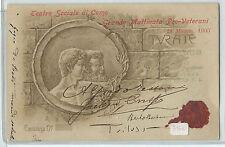 CARTOLINA 1903 TEATRO SOCIALE DI COMO GRANDE MATTINATA PRO VETERANI 605/A