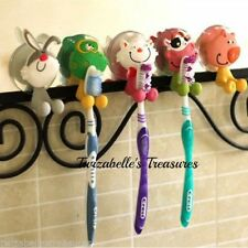Animal Theme Suction Cup Toothbrush Holders