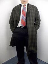 Hudson's Bay Company Cashalaine Men's Green/Black Plaid Featherweight Overcoat