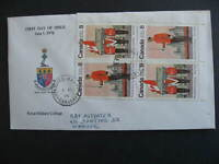 Canada RMC unknown cachet FDC First Day Cover Sc 592-3 plate block