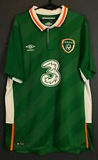 Men'S Republic Of Ireland 2016/2018 Irish Soccer Football Shirt Jersey Size Xl