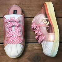 Vintage Phat Farm Women's Lace Up Slip On Pink & White Sneakers Shoes Size 7.5