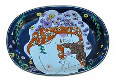 ART Enamel Copper Hand Paint Soap Dish Plate Tray Mother Child Klimt Breastfeed