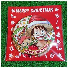 Mugiwara Store One Piece Can Badge -Merry Christmas- / Luffy & Chopper / 75mm