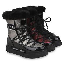 Damen Stiefeletten Winter Boots Warm Gefütterte Plateau Stiefel 832503 Schuhe