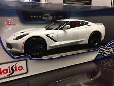 **SALE** Maisto 1:18 Diecast Model Car - 2014 Corvette Stingray Z51 (White)