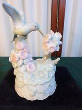 1993 Beautiful San Francisco Music Box Hummingbird Designed Musical Figurine
