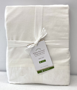 NEW Pottery Barn Belgian Flax Linen QUEEN Box Spring Cover~White