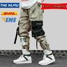 Hip Hip Streetwear Men's Camouflage Joggers Pants 2019 Men Ribbons Cotton Cargo