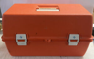 Flambeau 2072 Vintage Trauma Drug Kit 2 Shelf Tackle Box EMS EMT Paramedic Box