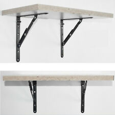 Multipurpose Folding Shelf Bench Table Bracket Black Baking Steel Hardware Tools