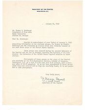 J. George Stewart American Architect of the Capitol Autograph Letter!