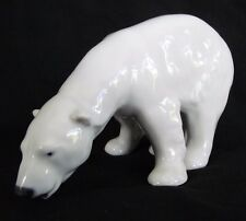 Fine Porcelain Royal Copenahagen #321 Feeding Polar Bear Sculpture Figurine