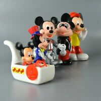 Mickey Mouse Vintage Disney Figure Vinyl Rubber Toy Bubble Pipe Space Tootsie