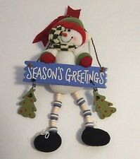 Christmas Hanging Decoration New Never Used  Good Condition Snowman