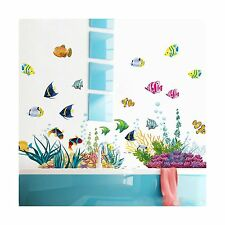 ElecMotive Ocean Wall Stickers for Under the Sea Theme Fish Cor... Free Shipping