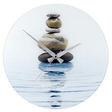 WENKO 21358100 Wanduhr Meditation, Gehärtetes Glas, 37 x 3 x 37 cm, Mehrfarbig