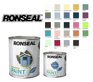 Ronseal Exterior Garden Paint - Wood Metal Brick Stone All colours and sizes