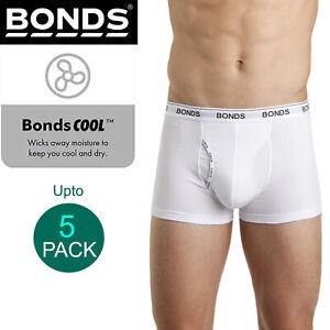 Bonds White Mens Guyfront Trunks Briefs Boxer Shorts Comfy Undies Underwear Bulk