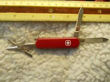 Retired Wenger Esquire Swiss Army knife in red  with pick and tweezers