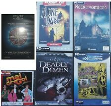 """Lotto 25 giochi PC e CD-ROM vari (incluso DVD game """"Chi vuol essere milionario"""")"""