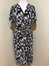 Ralph Lauren Womens Print Dress Size 12 Black