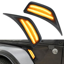 For Jeep Wrangler JL 18-19 LED Front Fender Side Marker Light Turn Signal Light