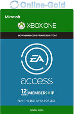EA Access XBOX ONE 12 Monate Mitgliedschaft Abo Key - 12 Month Subscription Code