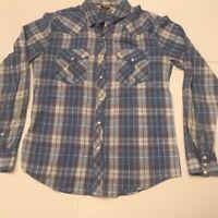 Salt Valley Mens Western Cowboy Shirt Multicolor Plaid Long Sleeve Cotton M