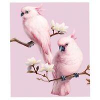 5D Diamond Painting Pink Parrot Rhinestone Embroidery Mosaic Needleworks Decors