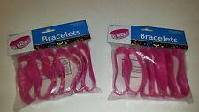 KICK Breast Cancer Big Band  Bracelets Set of 12 Breast Cancer Awareness SOCCER