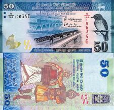 SRI LANKA 50 Rupees Banknote World Paper Money UNC Currency PICK p124c (Ceylon)