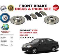FOR CHEVROLET AVEO HATCHBACK T300 2011- 276MM FRONT BRAKE DISCS SET + PADS KIT