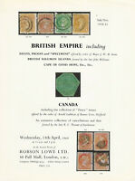 British Empire,Robson Lowe Ltd., #Sale 1930-1931, April 13 1960, Auction Catalog