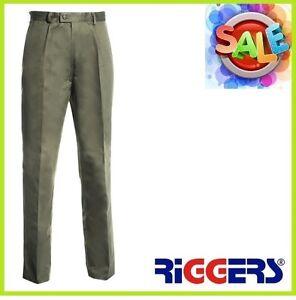 3 x RIGGERS Cotton Drill Work Trousers Pants Khaki Wholesale Bulk