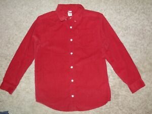 "GYMBOREE ""North Pole Express"" Corduroy Button Shirt Size L(10-12)"