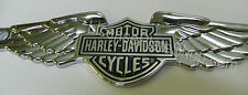 """Harley Davidson License Plate Emblem - """"Wings Axcent Bar"""" Chroma Graphics"""