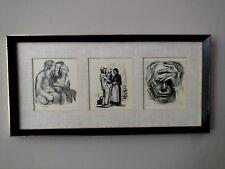 "Kathe Kollwitz  ""Self Portrait""  ""The Welcome""  ""Chatting Women"" Trilogy"
