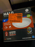 Halo 4 in. 2700K-5000K Selectable CCT Surface Integrated LED Downlight Recessed