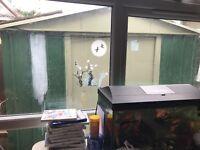Metal Garden Garage Shed Roof Double sliding Doors Storage 10ft x 12Panels UK