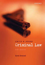 Smith and Hogan Criminal Law  10 Edition, Hogan, Brian, Smith, J.C., Good Book