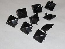 100 Pyramidennieten Pyramiden Nieten Ziernieten 12x12mm schwarz NEU rostfrei