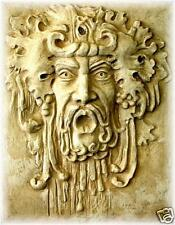 "20"" Dionysus God Greek Myth Wall Sculpture Home Decor Male Face"