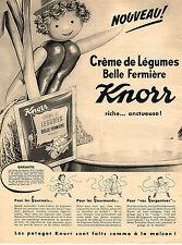 PUBLICITE ADVERTISING  1959   KNORR    potage  creme de légumes